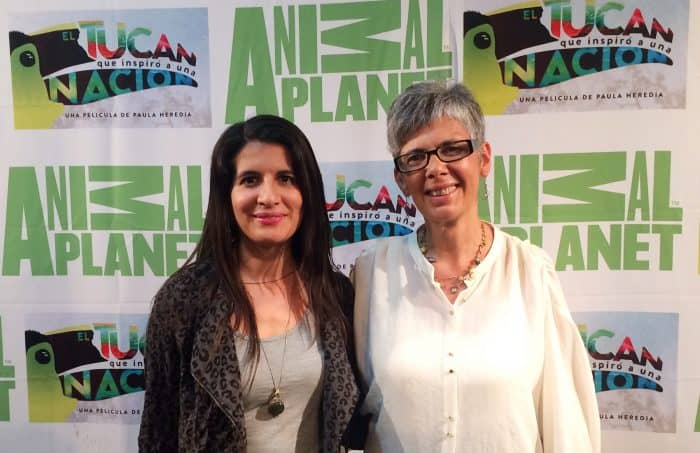 Filmmaker Paula Heredia and veterinarian Carmen Soto