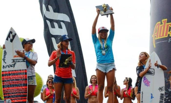 Leilani McGonagle surf championship