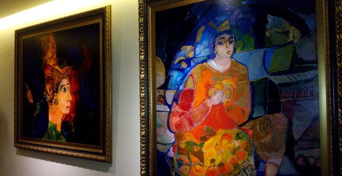 Artwork at the Studio Hotel.