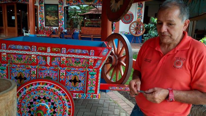 """Eloy Alfaro painter and tour guide Enrique (""""Henry"""") Villegas."""
