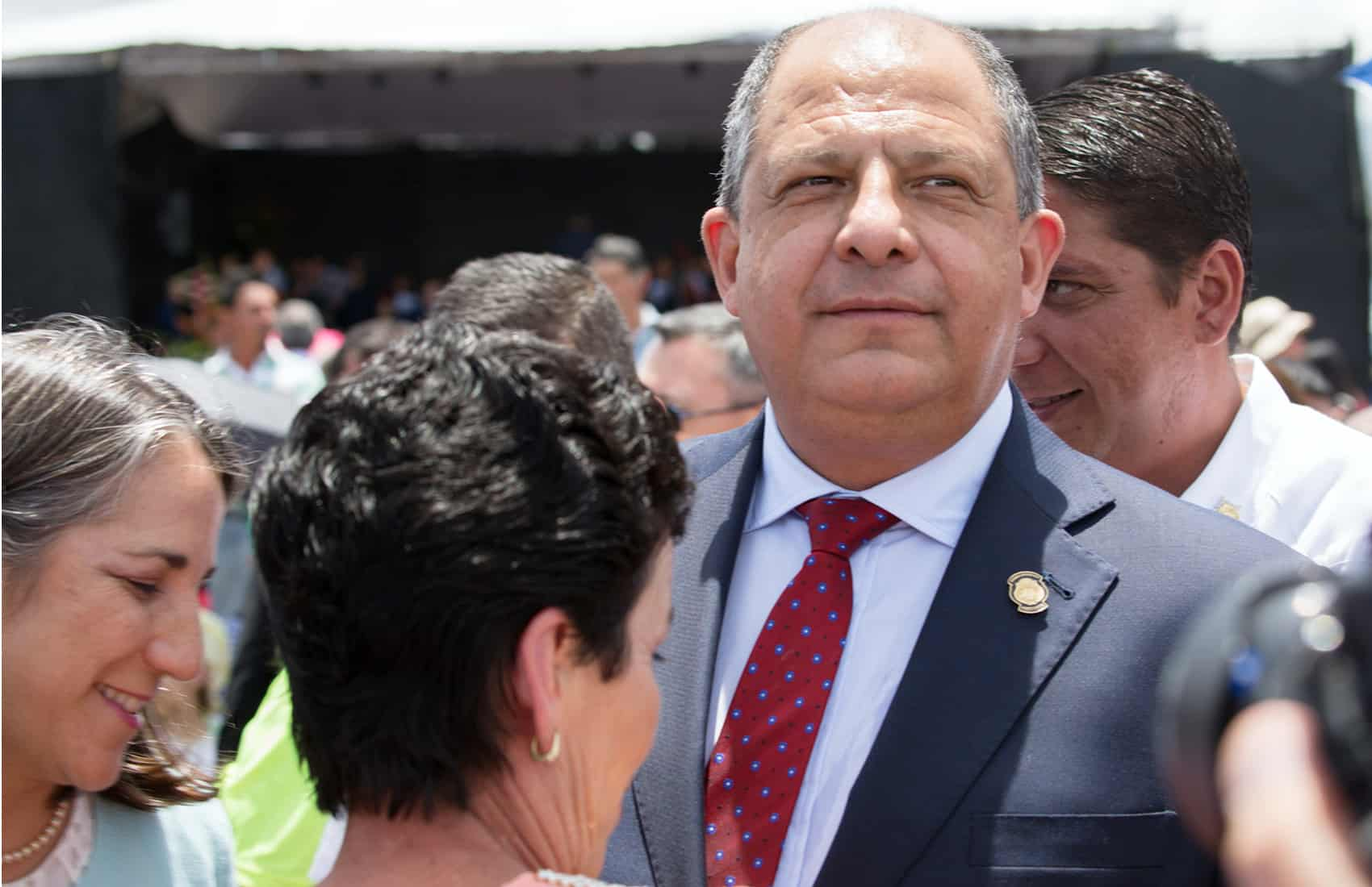 President Luis Guillermo Solís at Cartago pilgrimage. Aug. 2, 2016.
