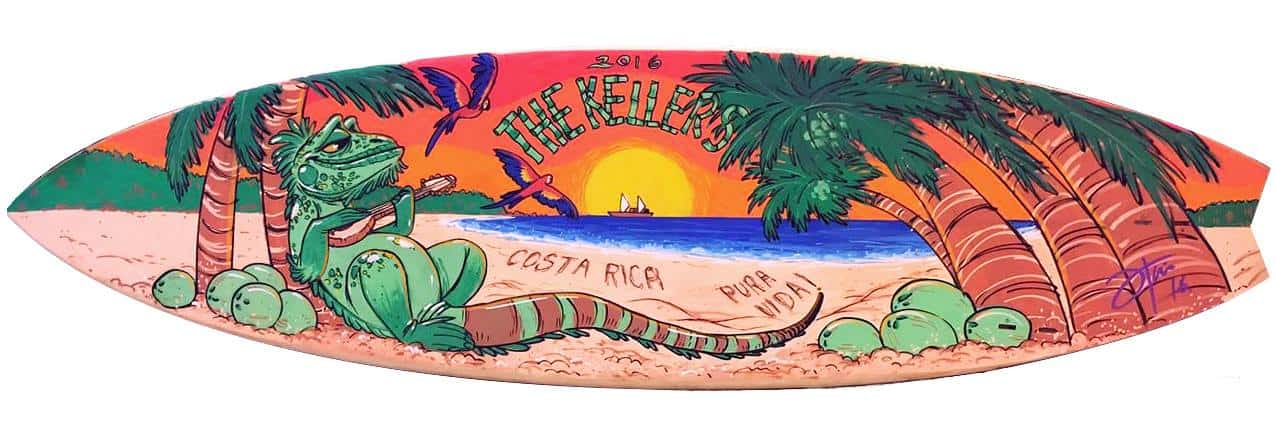 Surfboard art from Itai Hagage.