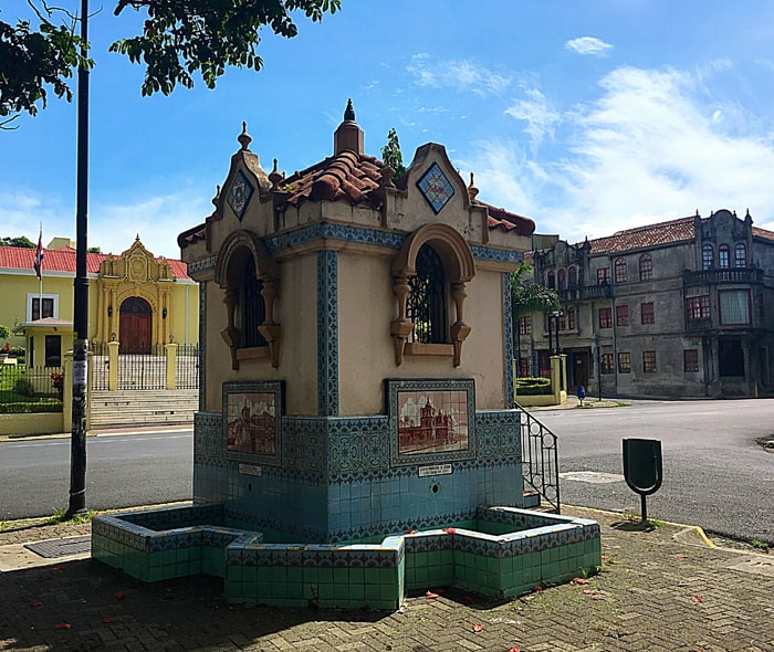 The Yellow House and other historic structures as seen from the corner of Parque Francia.
