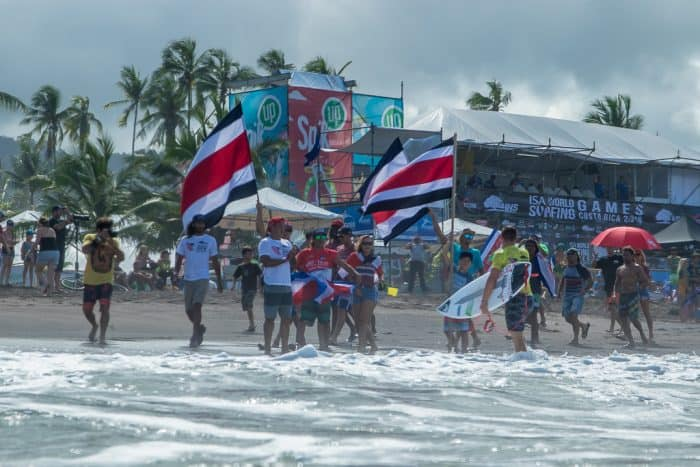 ISA World Surf Games Team Costa Rica