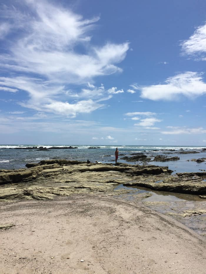 The tide pools in Playa Hermosa.