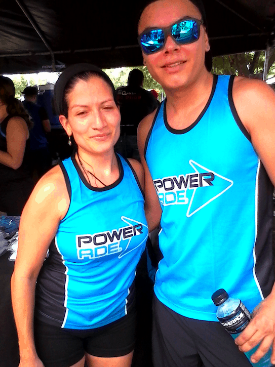 Fitness team members Haylee Valverde and Aaron Chavez.