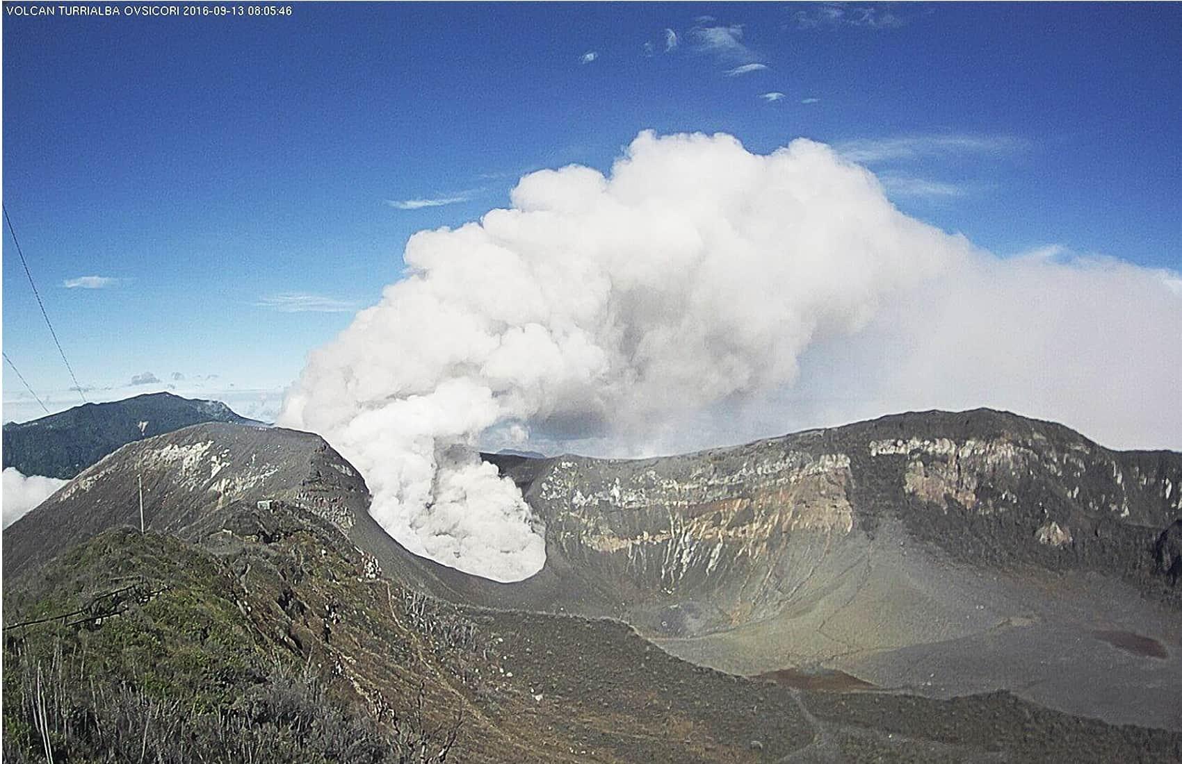 Turrialba Volcano explosion. Sept. 13, 2016.