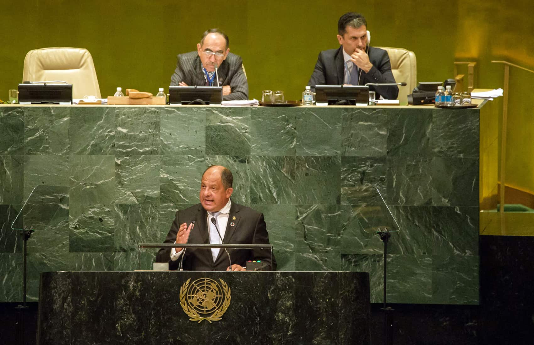 President Luis Guillermo Solís, at UN General Assembly. Sept. 20, 2016.