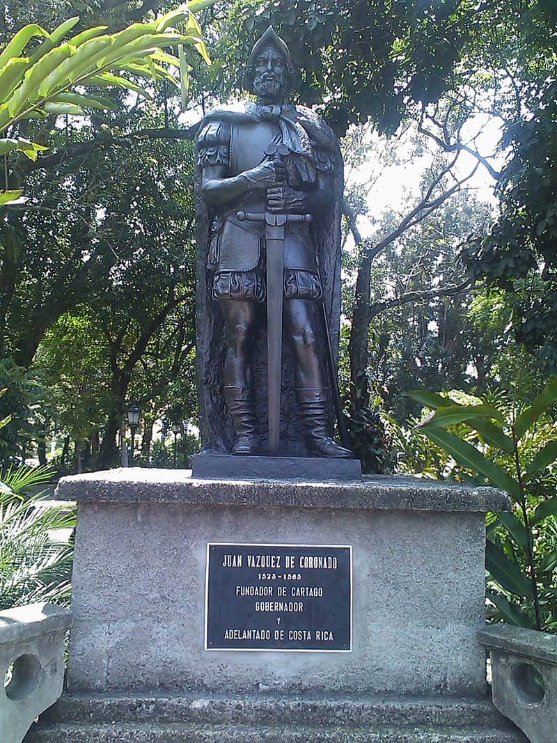 Statue of Juan Vázquez de Coronado in San José.