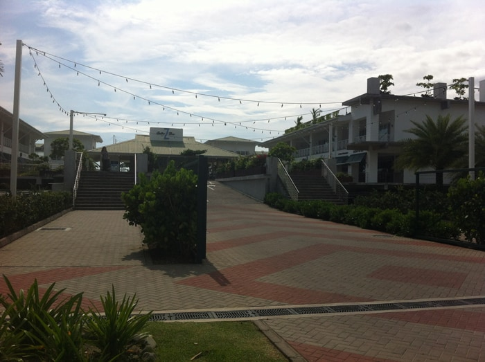 Entrance to the marina, where the center is anchored by the top-notch Z Gastro Bar.