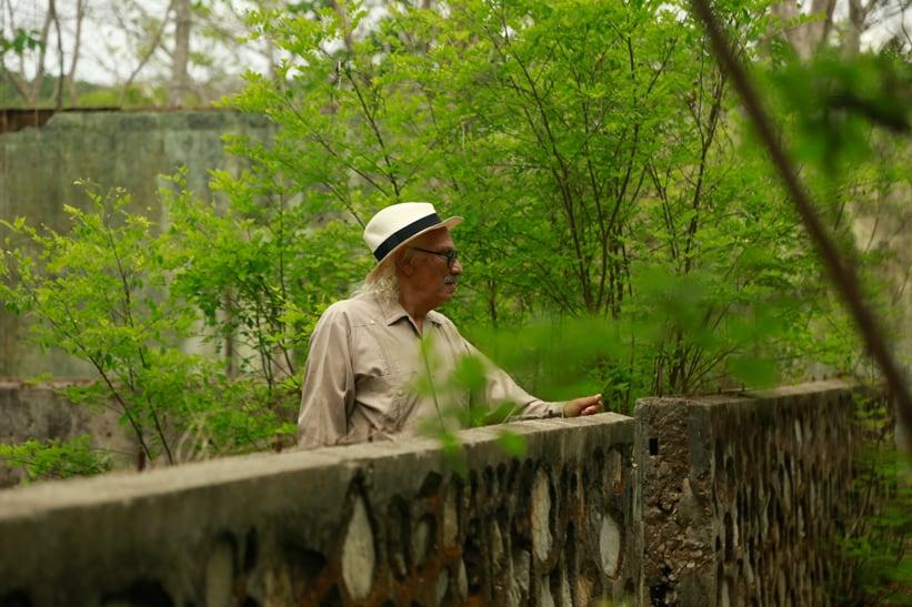 "José León Sánchez, author of ""The Island of Lonely Men,"" on a tour of San Lucas Island."