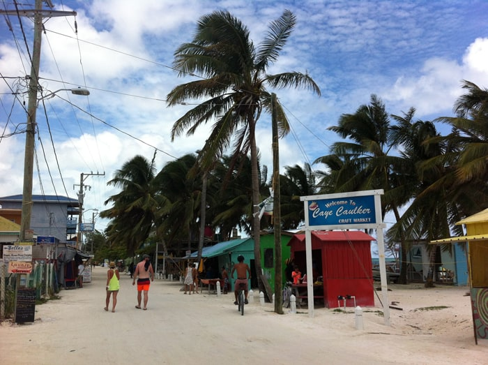 Main street in Caye Caulker.