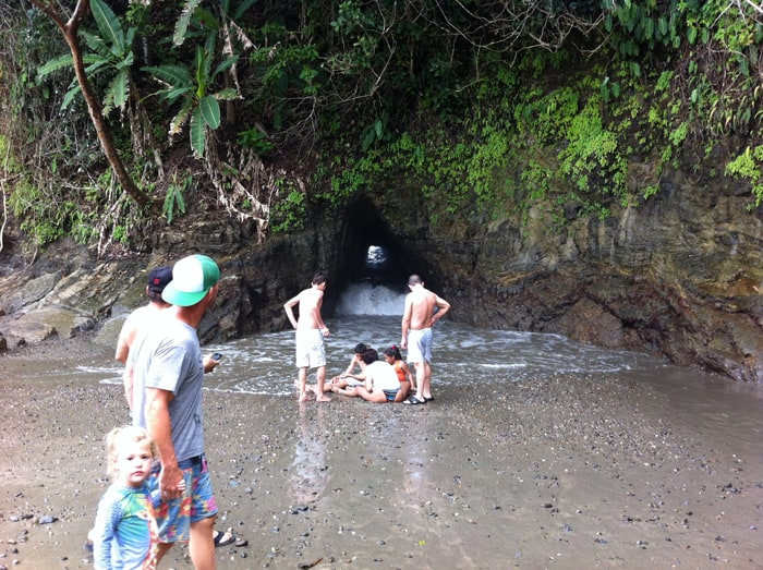 Break on through to the other side: Crazy cliff tunnel at Playa Ventanas.