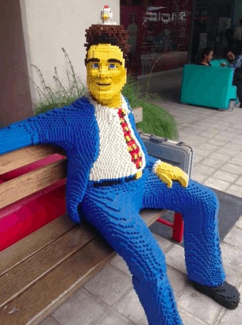 You want a piece of me? Lego Man.