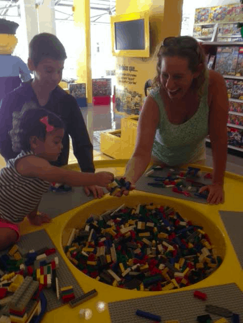 The author finds this vat of Lego bricks irresistible.