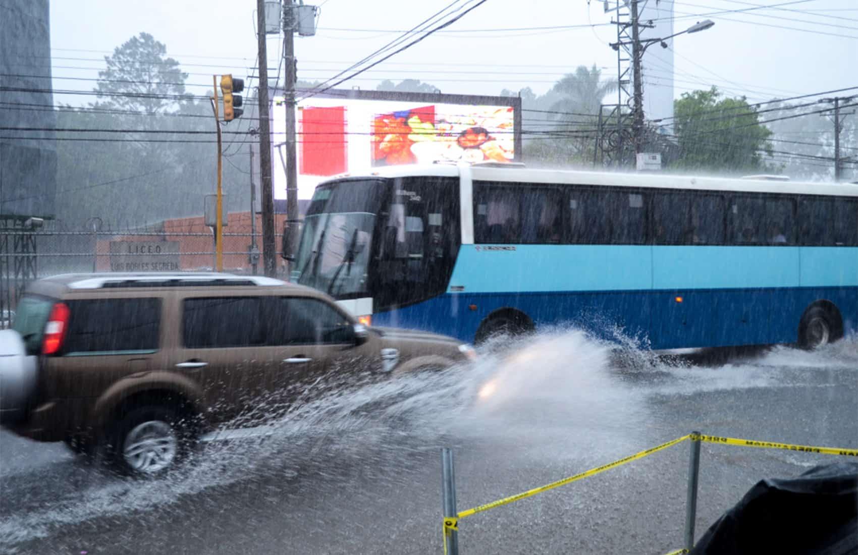 Heavy rains in San José