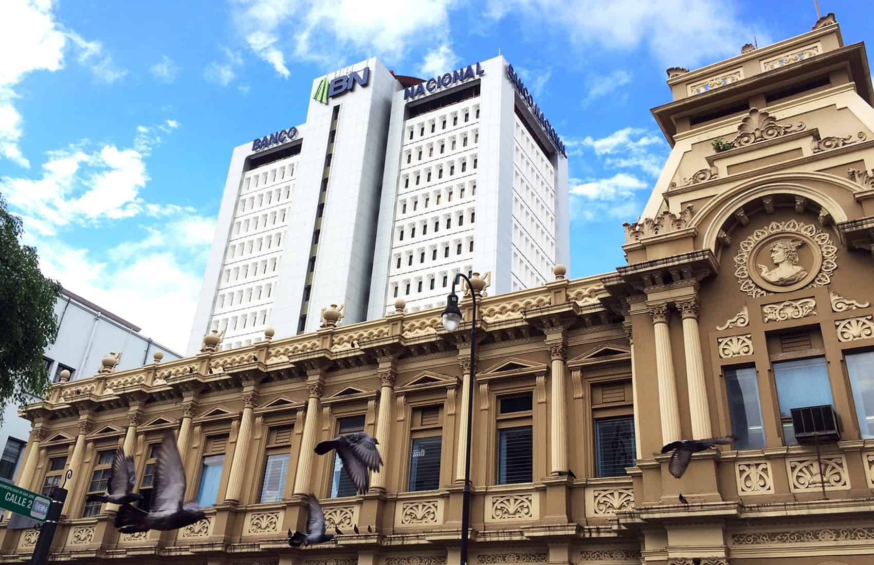 National Bank building in San José