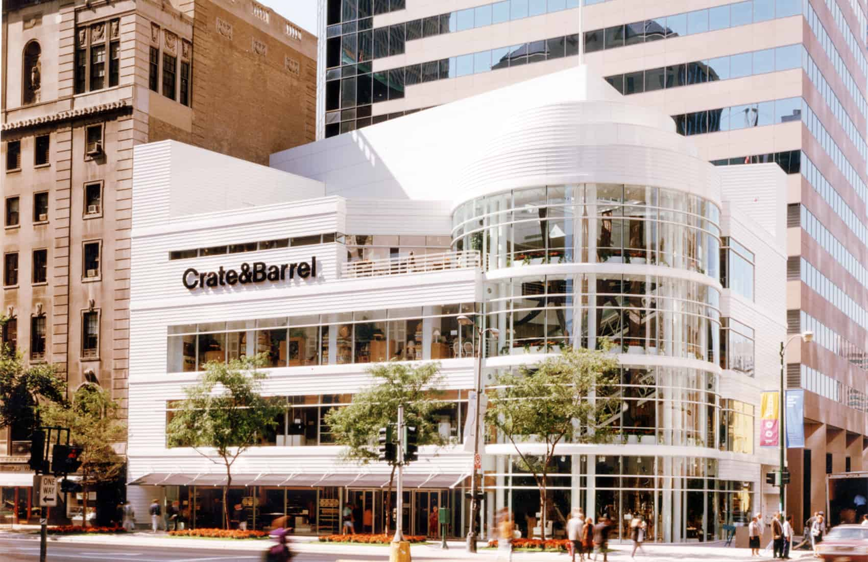 Crate & Barrel store in Chicago Illinois.