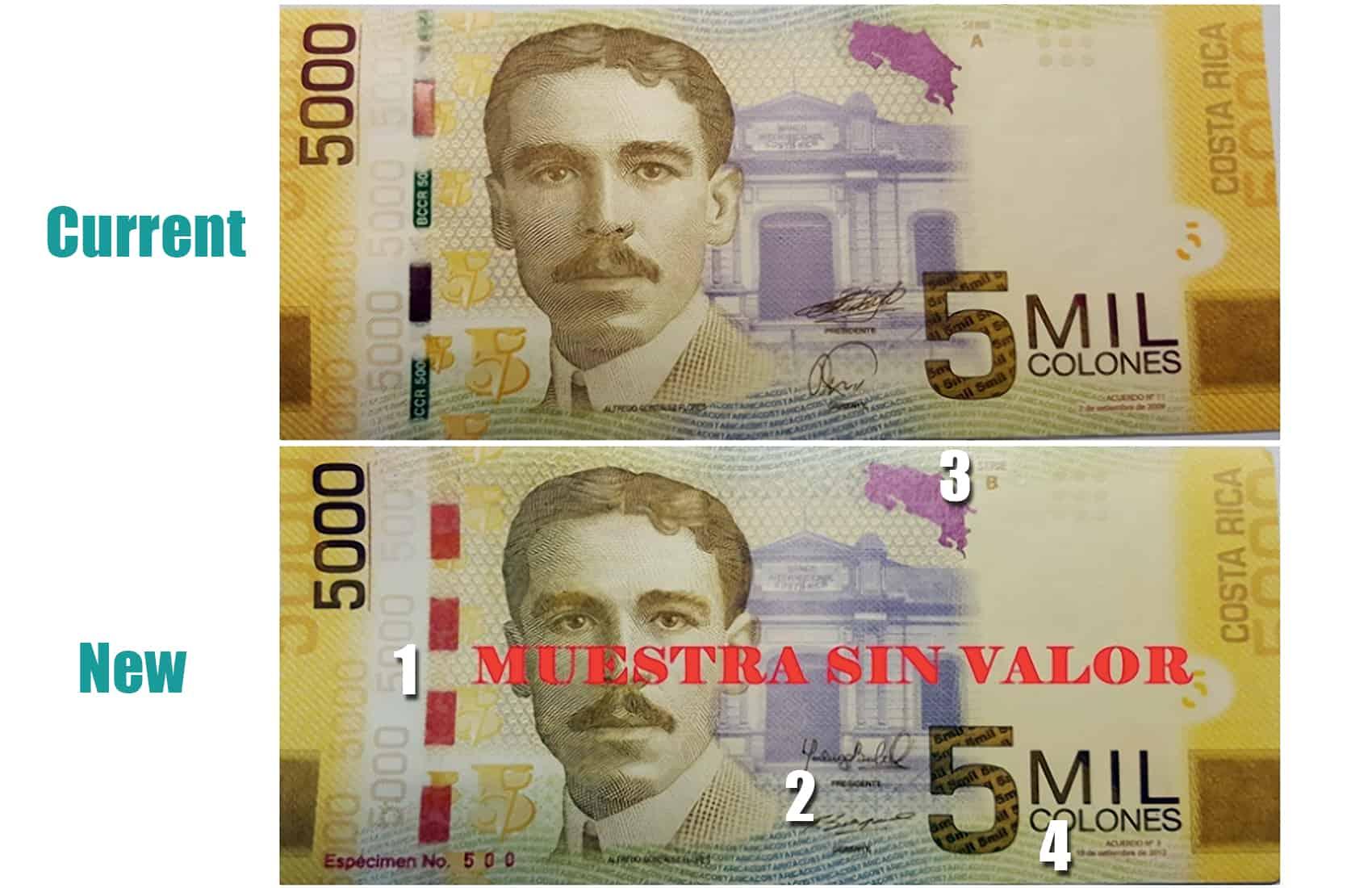 ¢5.000 banknotes