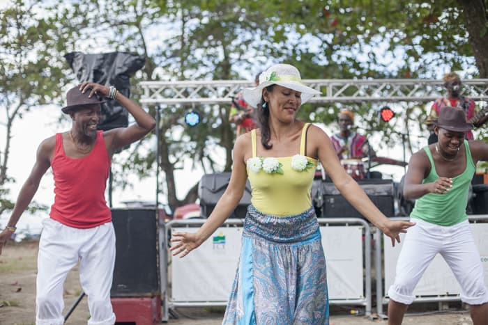 Dancing to calypso music at the Caribbean Festival.