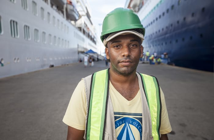 Alfonso is one of the locals in Limón who has been hired to work at the increasingly busy port.