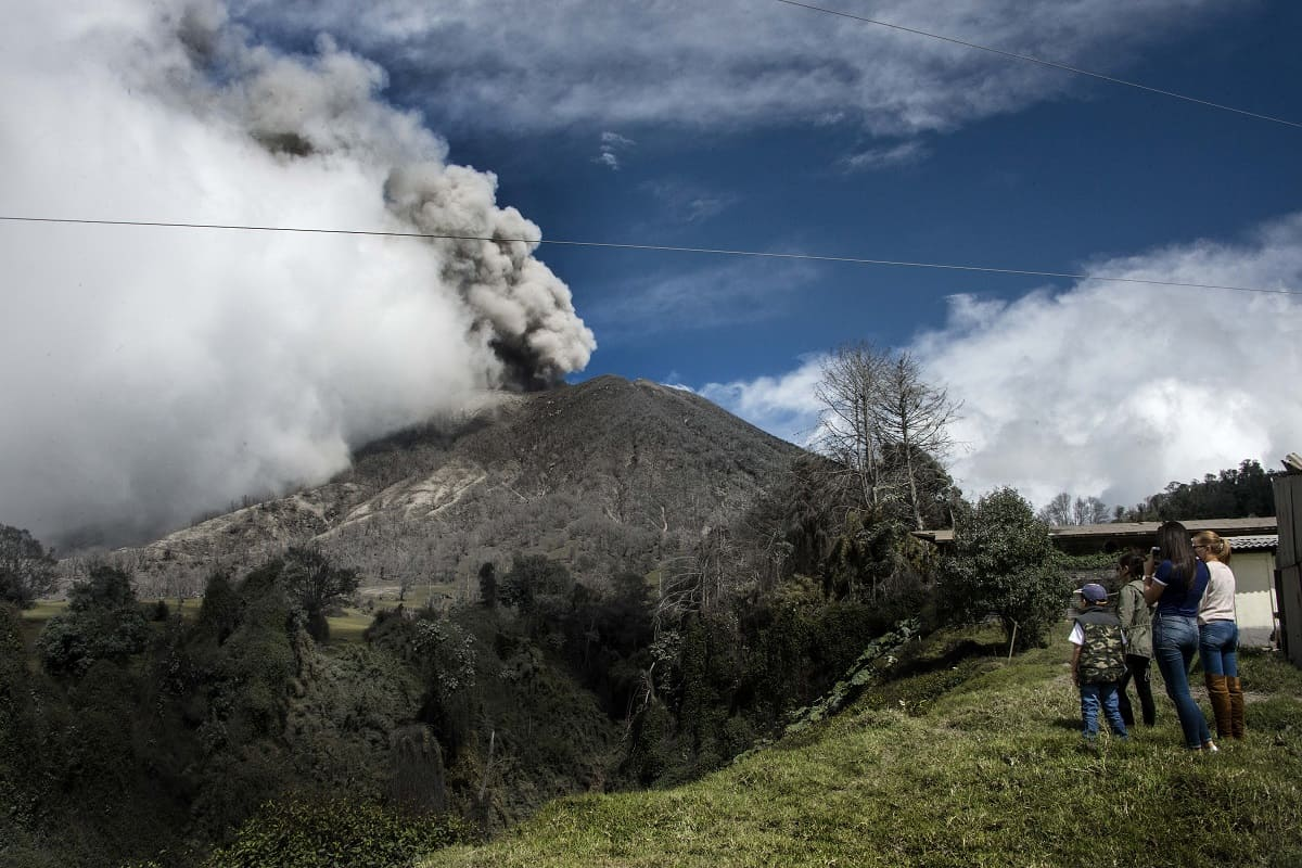 Volcán Turrialba on Jan. 6, 2017.