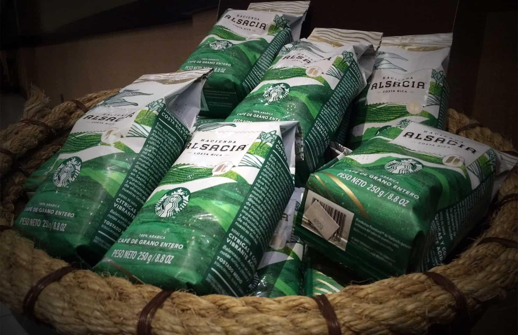 Starbucks Hacienda Alsacia coffee. Jan. 26, 2017.