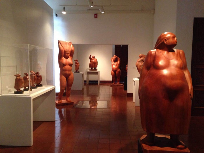 These wooden women are soft on the eyes. They're standing sentinel until February 12 at the MAC.