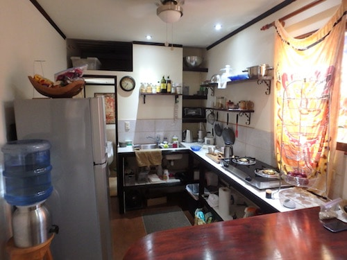 View into the kitchen.