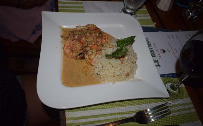 Shrimp dish.