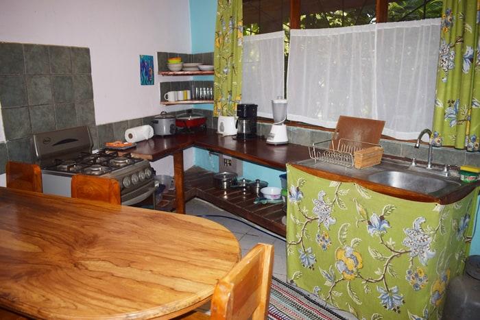 Kitchen at Kaya Sol.