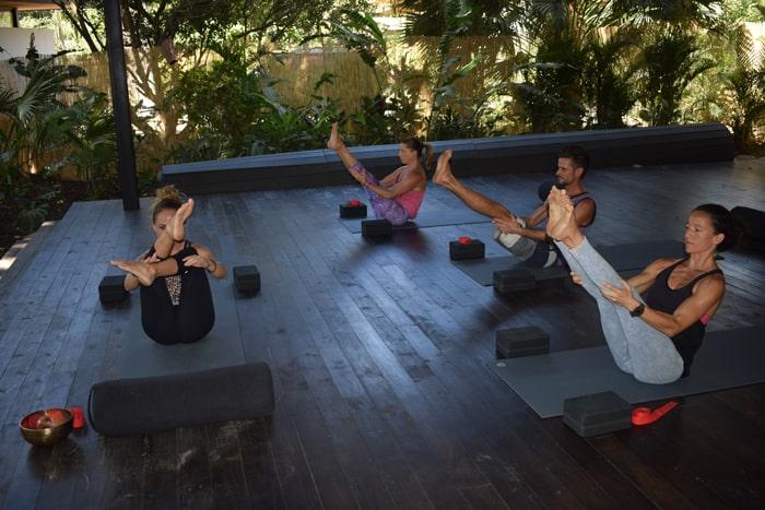 A yoga class at Nalu Studio.
