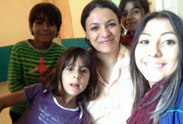 Refugee family in Belgium