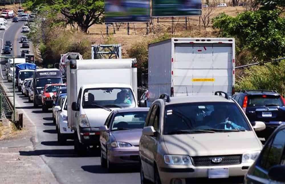 Traffic jam in Costa Rica.