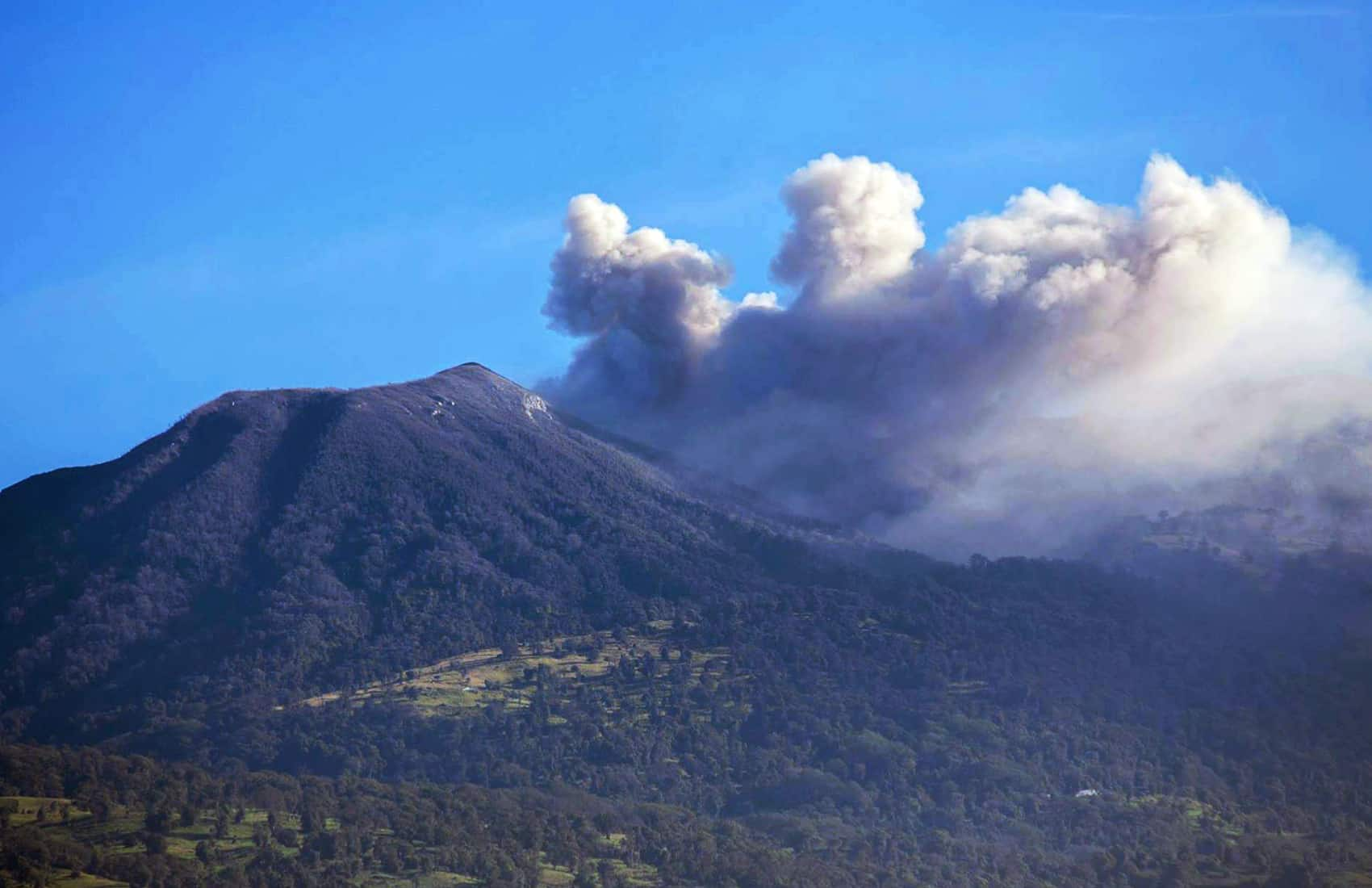 Ash explosion at Turrialba Volcano. Mar. 29, 2017.