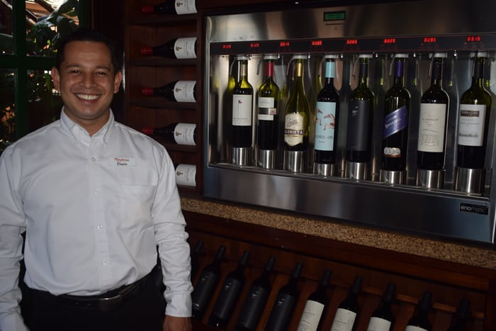 Nayara's sommelier tastes wine for a living — not bad work if you can get it.