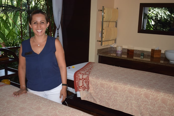 Erika, the Mexican director of the award-winning spa at Nayara, is ready to set you up with a couples massage. Ay, chihuahua.
