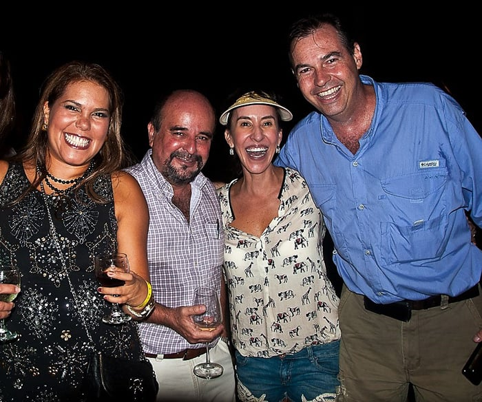 CRGAR networking event: Left to right, Priscilla Solano, Federico Marin, Irene and Alberto Triquell.