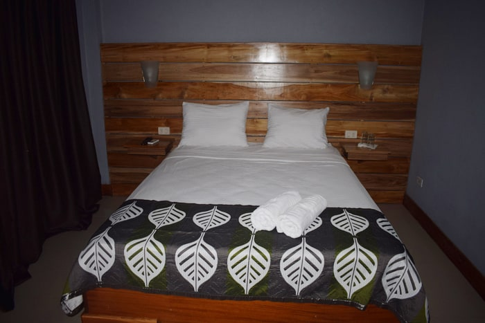 Bed at Downtown Inn.