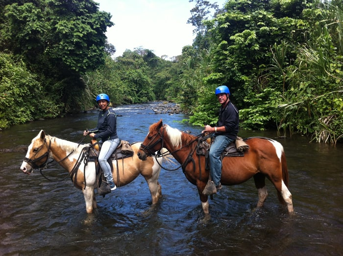 Indiana, Centenario, Guiselle, Karl and the Arenal River.
