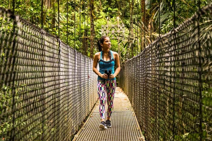 One of the hanging bridges at Mistico.