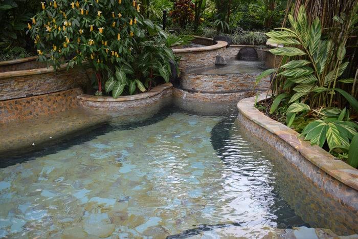 Manmade hot pool.