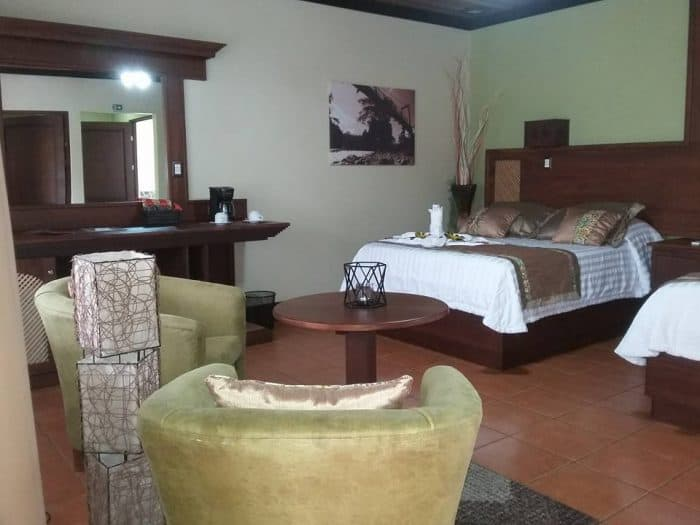 Our junior suite at Volcano Lodge.