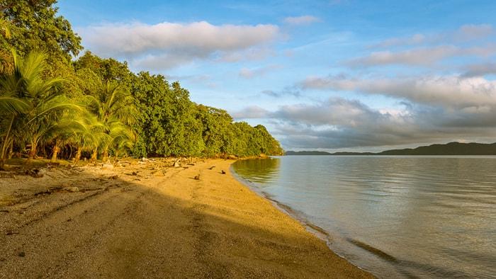 Beach on the Nicoya Peninsula, shot at sunrise.