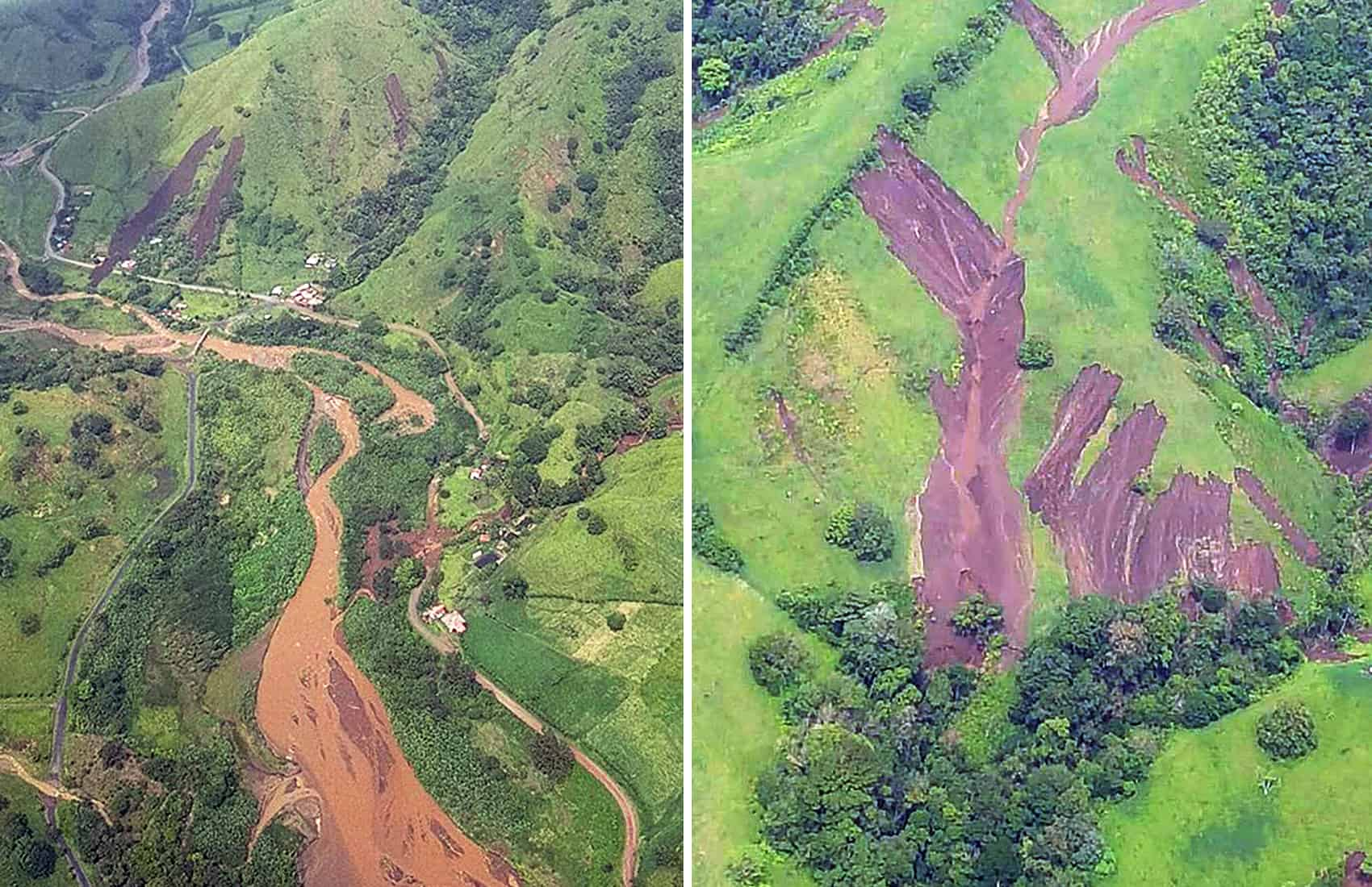Landslides at Tilarán, Guanacaste. May 25, 2017