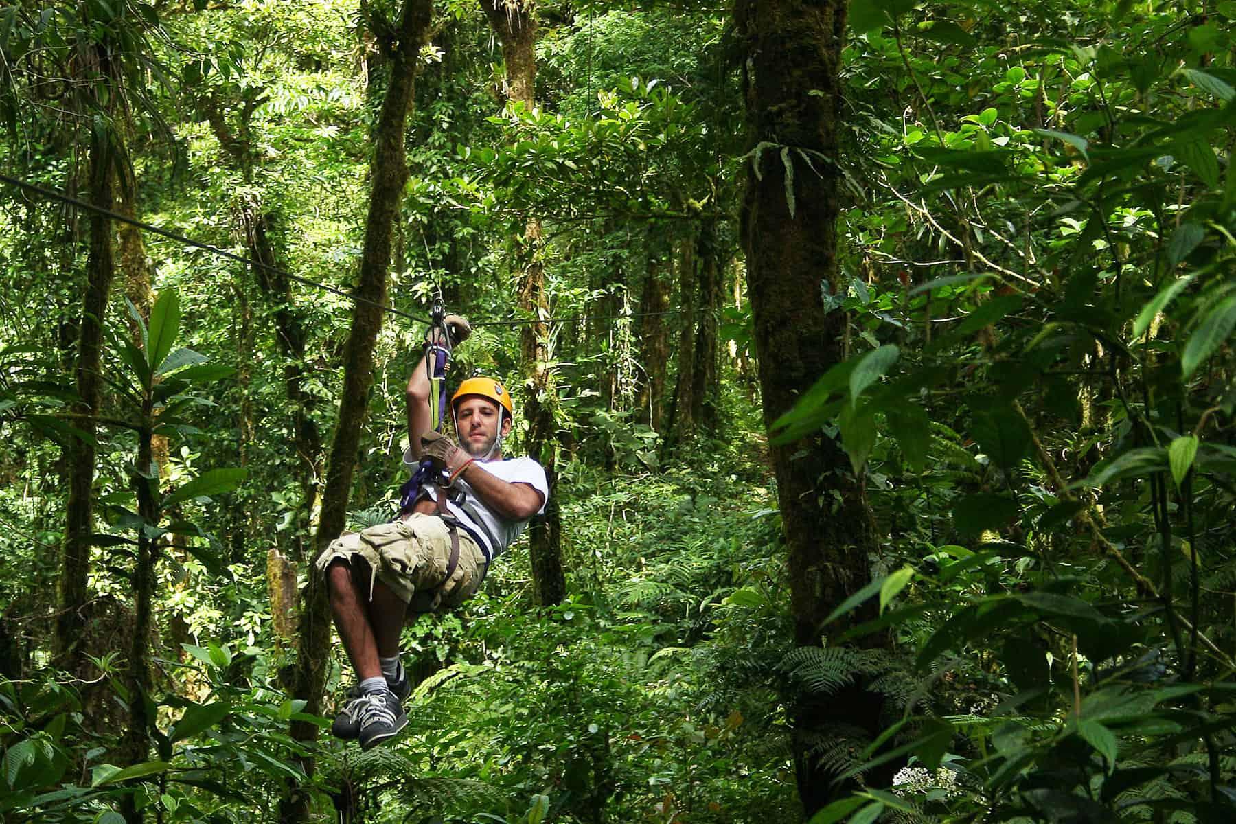 Canopy, ziplining in Costa Rica