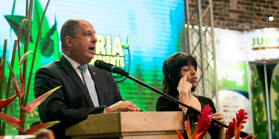 President Luis Guillermo Solís. World Environment Day in Costa Rica. June 5, 2017.
