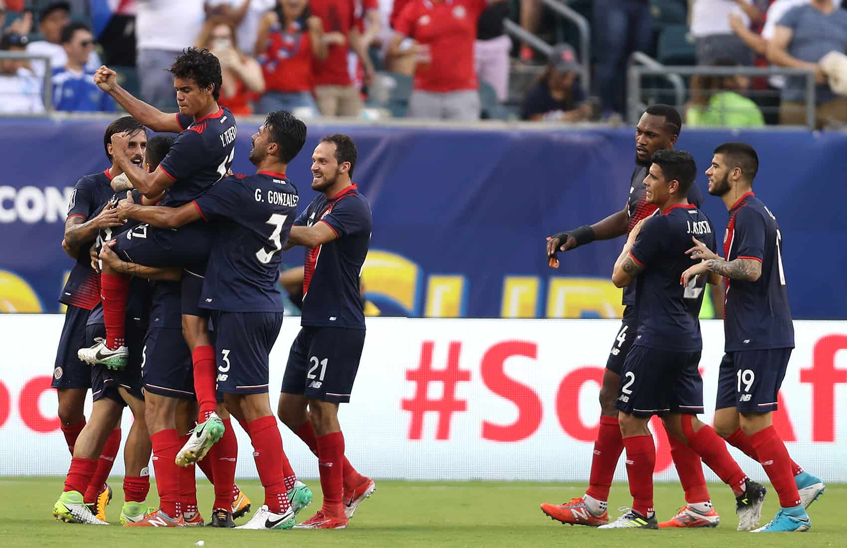 Costa Rica's La Sele defeats Panama. July 19, 2017.
