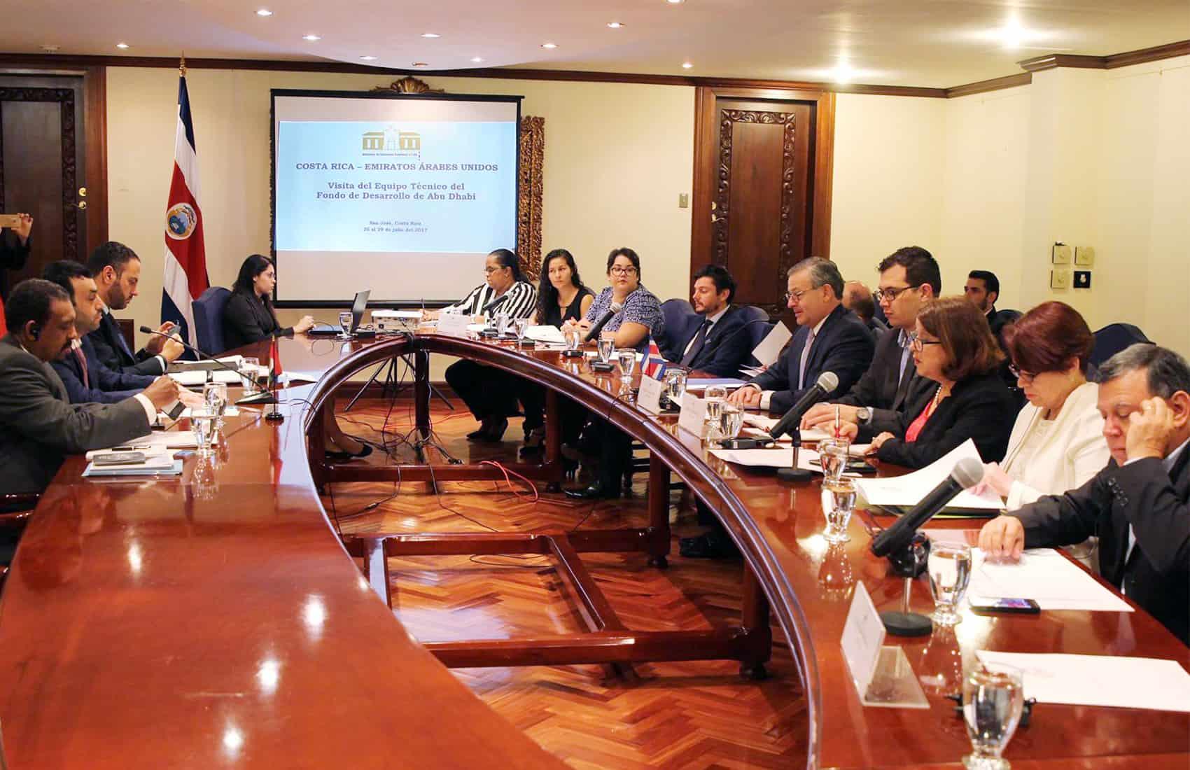 Costa Rica - AUE Abu Dhabi bilateral meeting. July 26, 2017.
