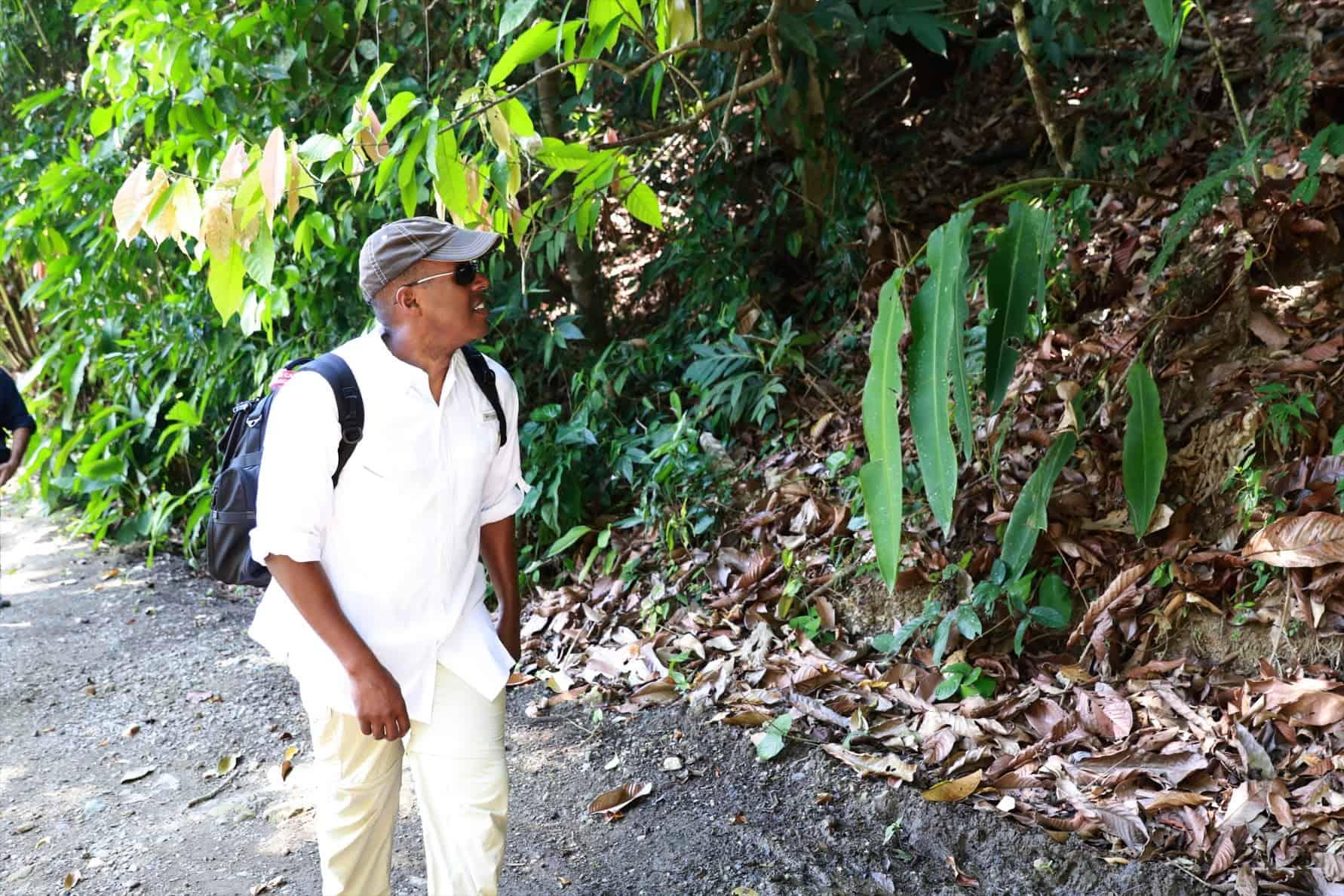 Ambassador Haney during his visit at the Corcovado park.